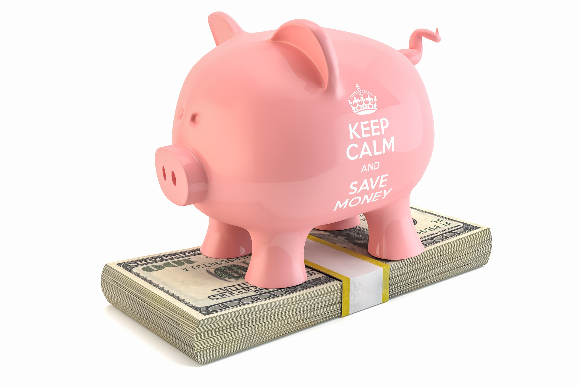 Piggy bank, put money aside, personal finances
